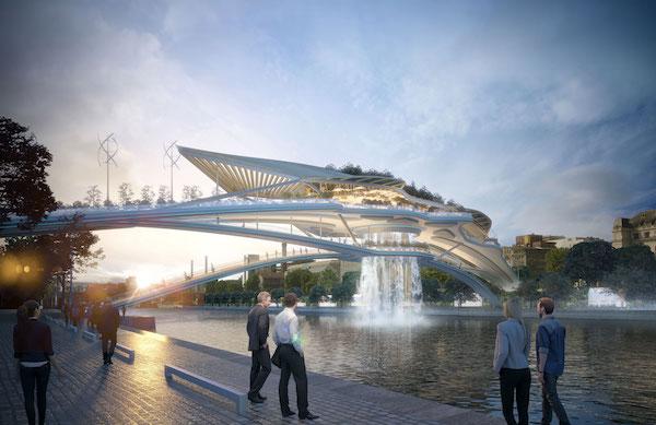 watervalbrug Seine Parijs