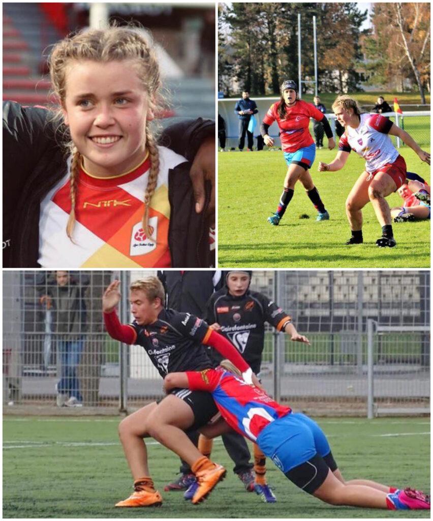 Coco Nederlands meisije rugbytalent in Frankrijk