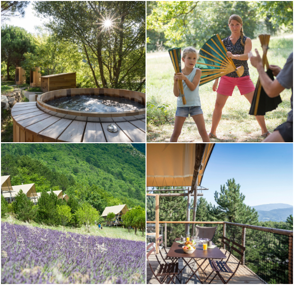 Huttopia Bosvillages Dieulefit Zuid-Frankrijk
