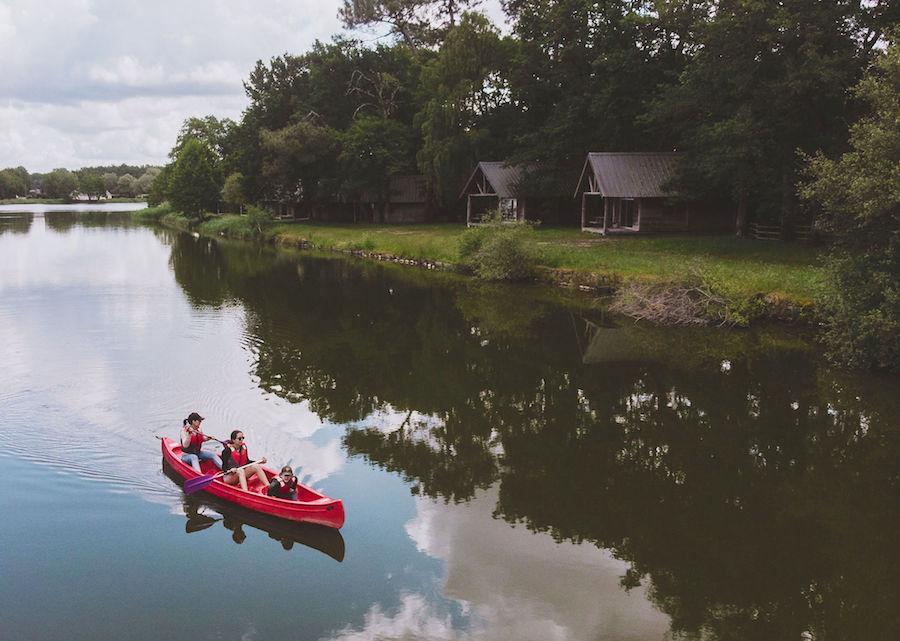 natuurcamping Huttopia Village Lac de Rillé