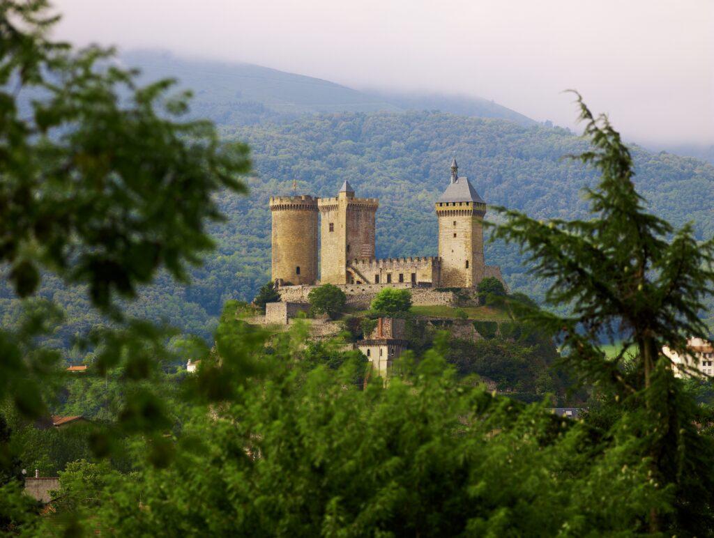 Ariege departement Pyreneeen kasteel Foix