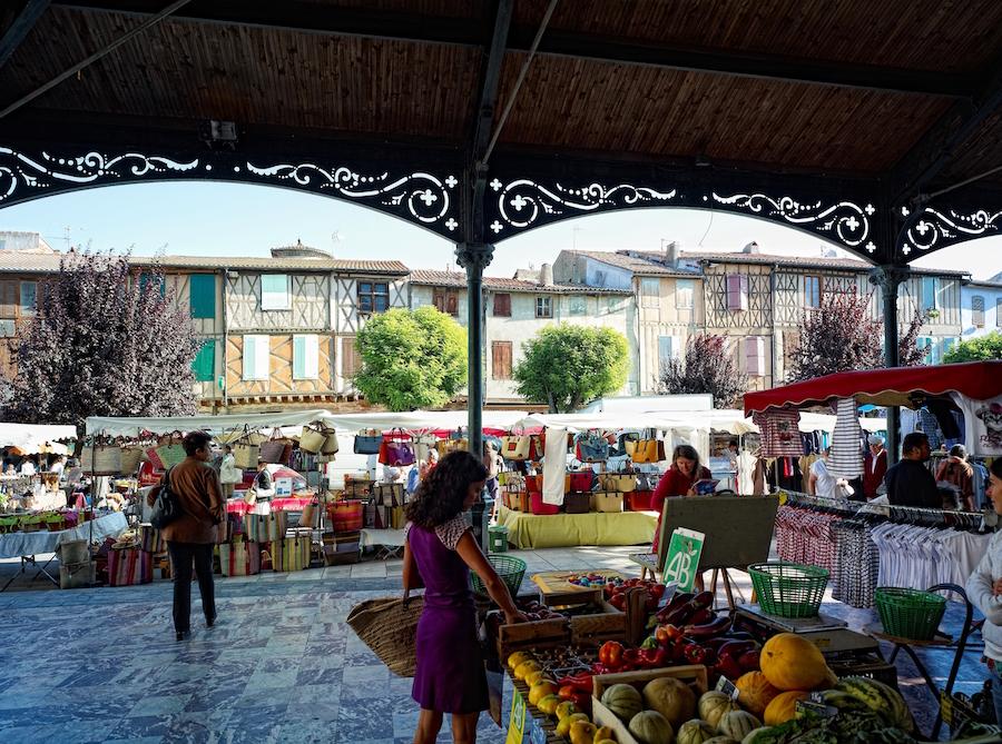 Mirepoix, Ariege, markt