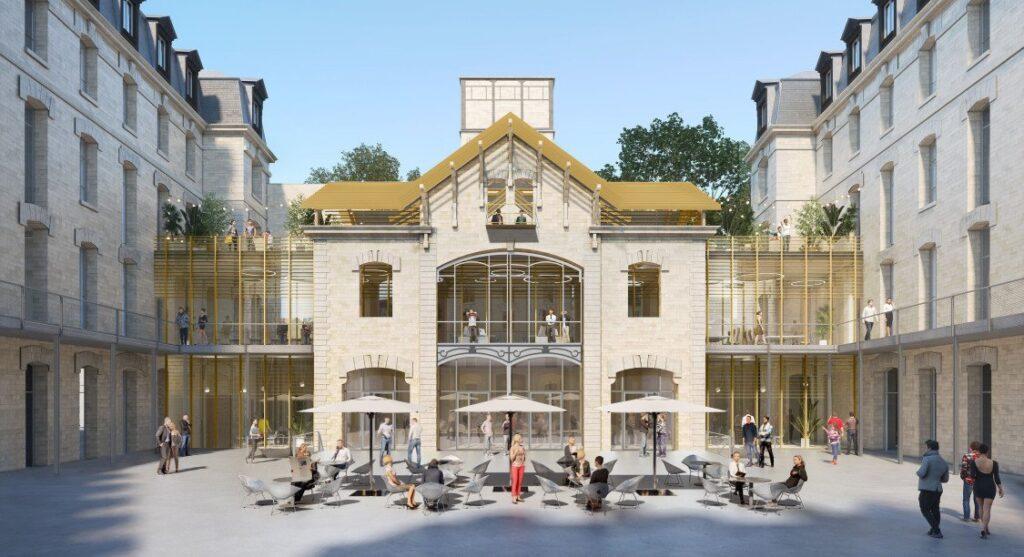La Cserne Parijs brandweerkazerne wordt duurzaam modecentrum