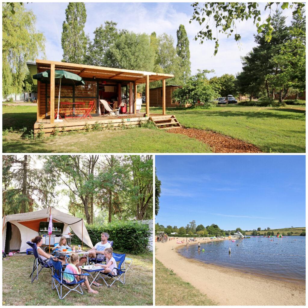 Camping in Bourgogne platteland bij Beaune Dijon Huttopia
