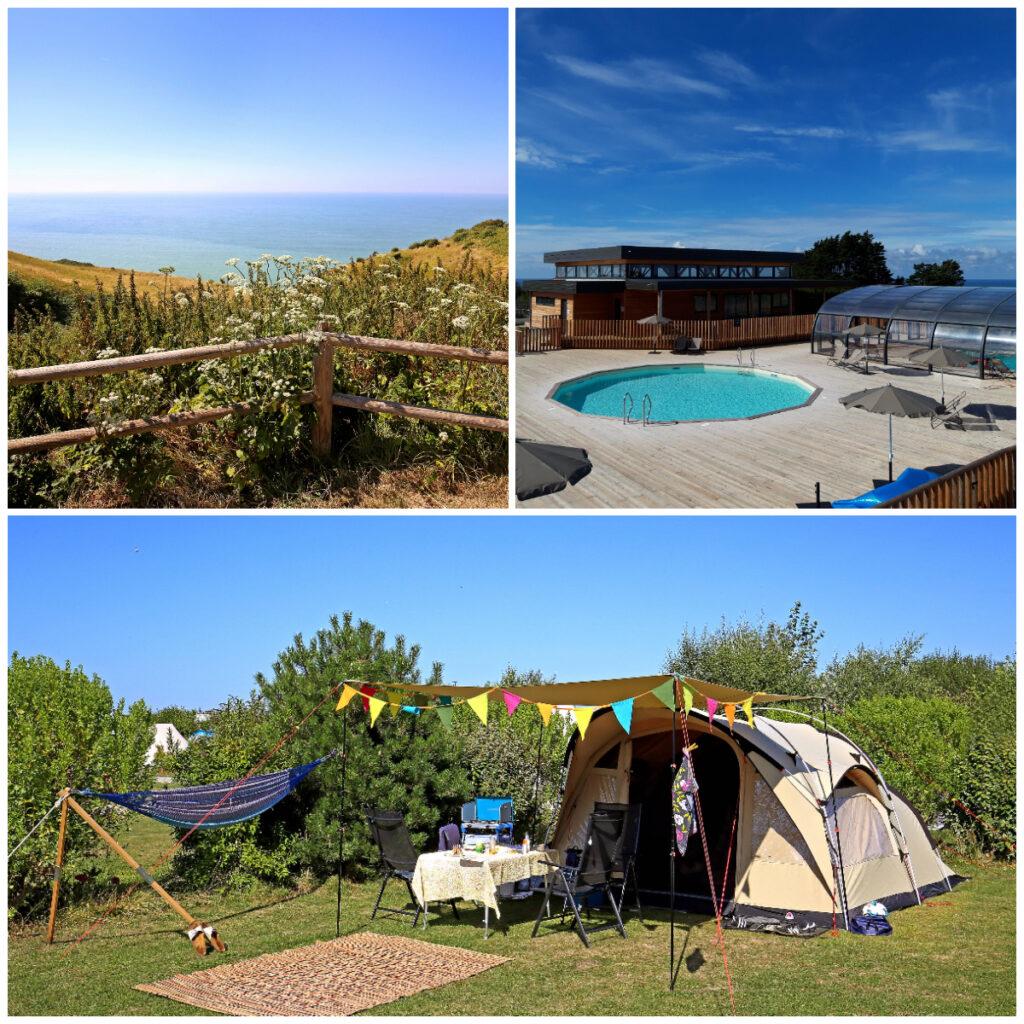 camping aan zee in Normandie