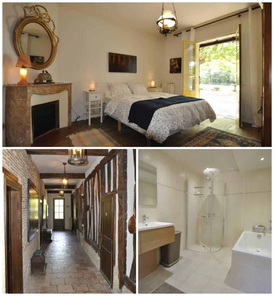Slaapkamer Vakantiehuis Domaine Le Relais Bergerac Dordogne