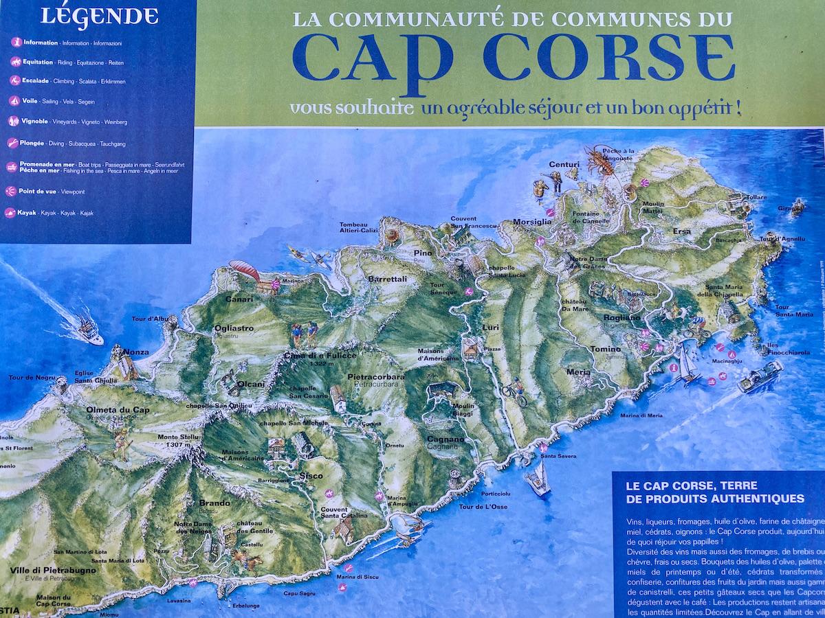 Fietskaart Cap Corse