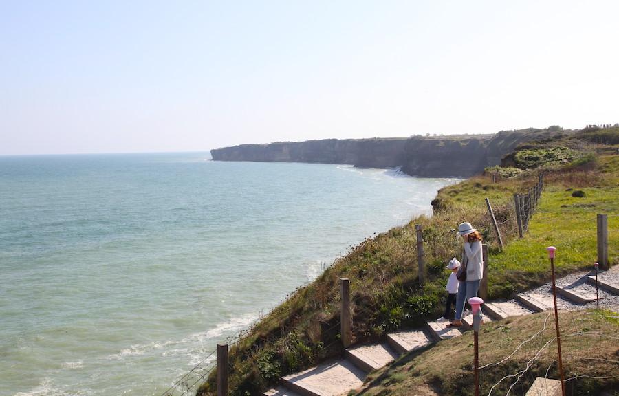 Pointe du Hoc kliffen Normandie D-Day