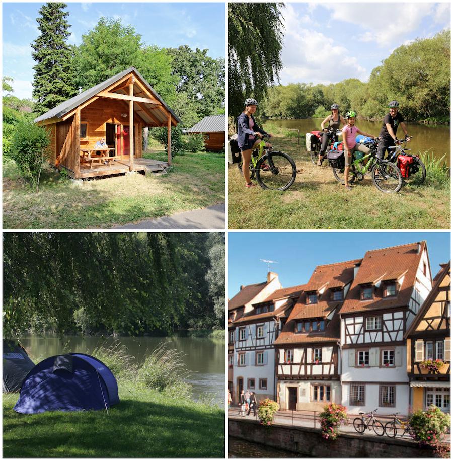 camping bij de stad Colmar autoroute