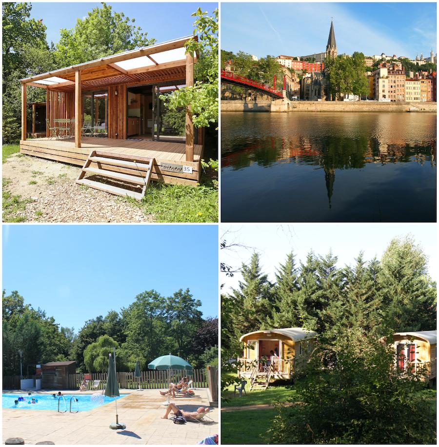 camping bij de stad Lyon Route du Soleil