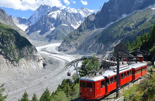 Savoie Mont Blanc treintje Mont Blanc