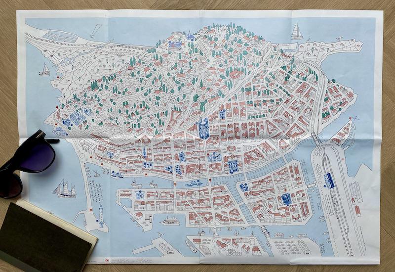 Kaart Sète