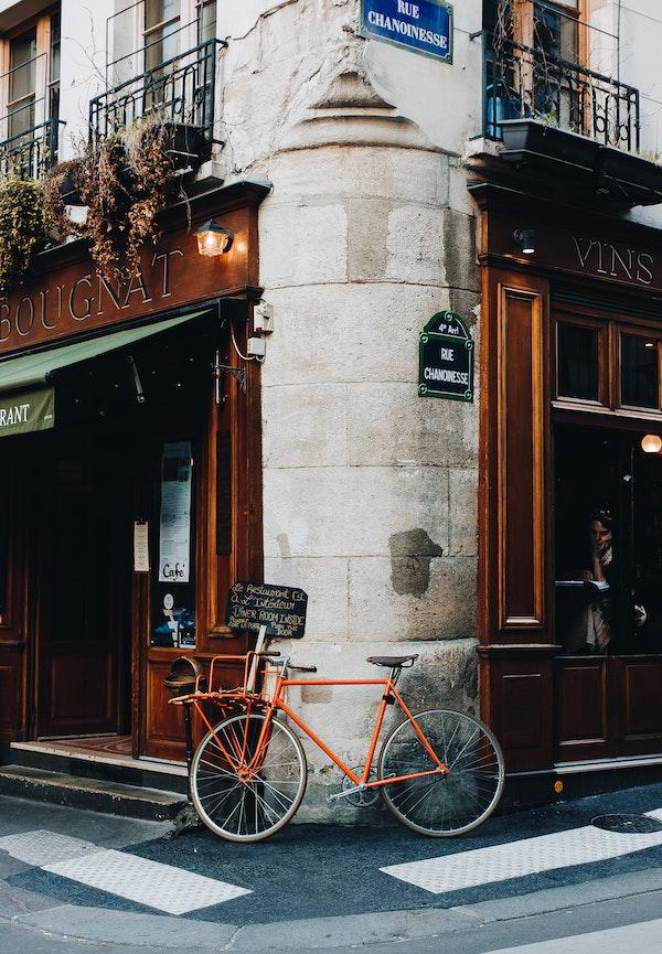 straat in de Marais