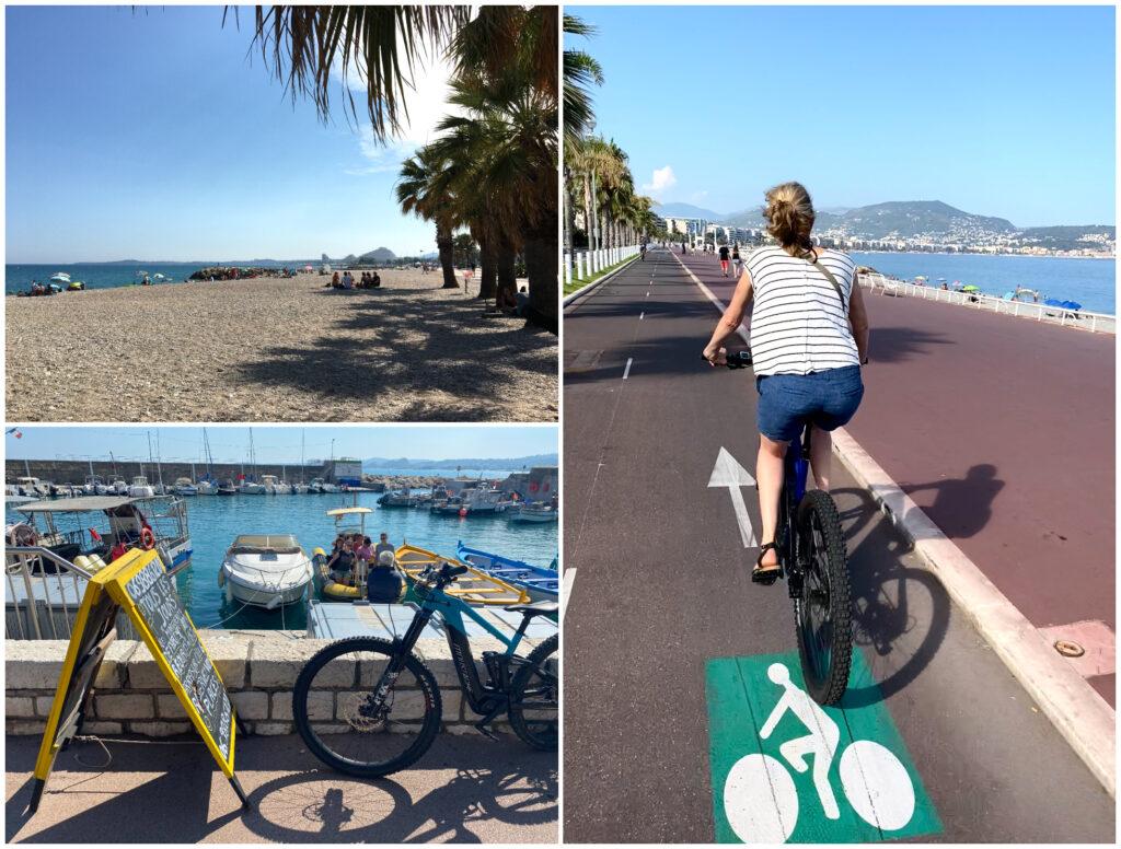 fietsen langs de Promenade in Nice